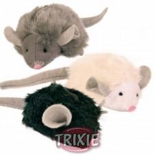 Trixie Игрушка для кошек Мягкая мышка с микрочипом, 6,5см (пищит при касании) (P26198/4199)