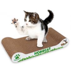 Homecat Когтеточка мятная волна для кошек с кошачьей мятой, картон, 45x30х10см