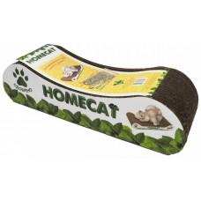 Homecat Когтеточка мятная волна для кошек с кошачьей мятой, картон, 8x12х9см