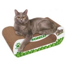 Homecat Когтеточка мятная волна для кошек с кошачьей мятой, картон, 61x25х20см