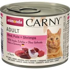 Animonda CARNY Adult Консервы для кошек с говядиной, индейкой и креветками