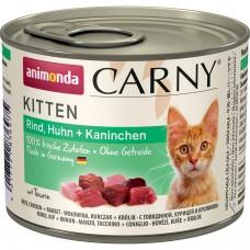 Animonda CARNY Kitten Консервы для котят с говядиной, курицей и кроликом 200 гр. (83489)