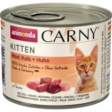 Animonda CARNY Kitten Консервы для котят с говядиной, телятиной и курицей 200 гр. (83492)