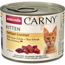 Animonda CARNY Kitten Консервы для котят коктейль из мяса птицы 200 гр. (83698)