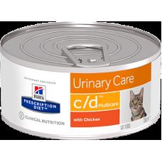 Hill's Prescription Diet C/D консервы для кошек Диета для профилактики МКБ с Курицей, 156г (C11144)