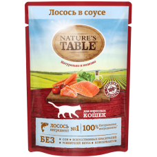 Nature's Table Натуральный Влажный рацион для взрослых кошек всех пород Лосось в соусе (P25346)