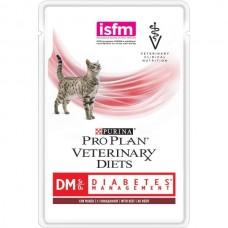 Purina Pro Plan Veterinary Diets DM ST/OX DIABETES MANAGEMENT консервы для кошек при сахарном диабете, говядина, 85г