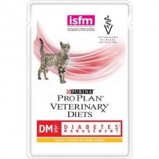 Purina Pro Plan Veterinary Diets DM ST/OX DIABETES MANAGEMENT консервы для кошек при сахарном диабете, курица , 85г