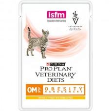 Purina Pro Plan Veterinary Diets OM ST/OX OBESITY MANAGEMENT консервы для кошек при ожирении, курица, 85г