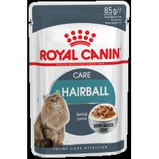Royal Canin HAIRBALL CARE Влажный корм для кошек для выведения шерсти в соусе 85гр. (P24731)