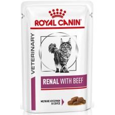 Royal Canin RENAL WITH BEEF Влажный корм для кошек при хронической почечной недостаточности (говядина), 85г (P24956)