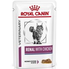 Royal Canin RENAL WITH CHICKEN Влажный корм для кошек при хронической почечной недостаточности (курица), 85гр. (P24549)