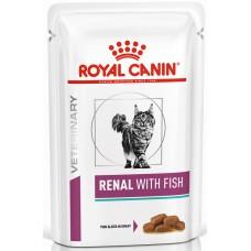Royal Canin RENAL WITH FISH Влажный корм для кошек при хронической почечной недостаточности (рыба), 85гр. (P24560)