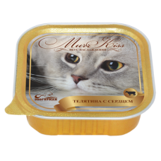 Зоогурман конcервы для кошек MurrKiss Телятина с сердцем 100гр. (P24495)