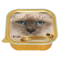 Зоогурман конcервы для кошек MurrKiss Курочка с потрошками 100гр. (P24494)
