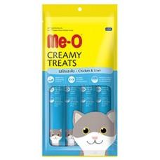 Me-O Крем-лакомство для кошек Курица и печень (4*15г) 60г