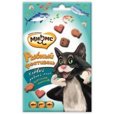 Мнямс Лакомство для кошек Рыбный фестиваль Лосось, Креветки, Форель 50г C(59705)