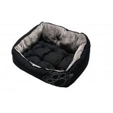 """Rogz Мягкий лежак с двусторонней подушкой LUNA BLACK PAW """"Черная лапка"""""""