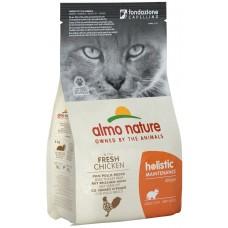 Almo Nature Holistic Adult для взрослых кошек с курицей и коричневым рисом