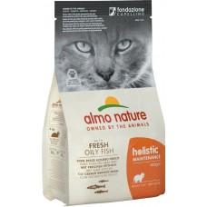 Almo Nature Holistic Adult для взрослых кошек с жирной рыбой и коричневым рисом