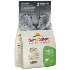 Almo Nature Holistic Anti Hairball Adult для взрослых кошек контроль вывода шерсти со свежей рыбой