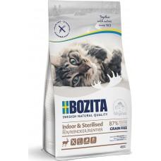 Bozita GRAINE FREE Indoor & Sterilised сухой корм для домашних и стерилизованных кошек, ведущих малоподвижный с мясом оленя
