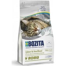 Bozita Indoor & Sterilised сухой корм для домашних и стерилизованных кошек с мясом курицы