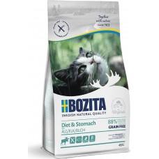 Bozita GRAIN FREE Sensitive Diet & Stomach сухой корм для кошек с чувствительным пищеварением, избыточным весои и пожилых с лосем