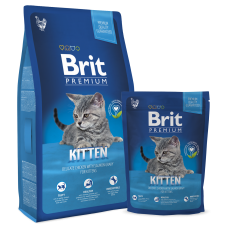 Brit Premium Cat Kitten Chicken Корм сухой для Котят с Курицей в лососевом соусе