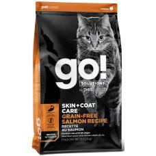 GO! SKIN + COAT Беззерновой для Котят и Кошек с Лососем 30/14 (Salmon Recipe)