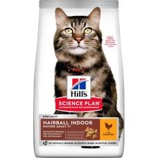 Hill's Science Plan HAIRBALL INDOOR CAT MATURE ADULT 7+ для выведения шерсти из желудка у домашних кошек старшего возраста, с курицей (P21805)