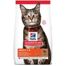 Hill's Science Plan ADULT для взрослых кошек от 1 до 6 лет для поддержания жизненной энергии и иммунитета, с ягненком