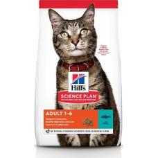 Hill's Science Plan ADULT для взрослых кошек от 1 до 6 лет для поддержания жизненной энергии и иммунитета, с с тунцом