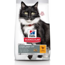 Hill's Science Plan STERILISED CAT MATURE ADULT корм для стерилизованных кошек старше 7 лет с курицей