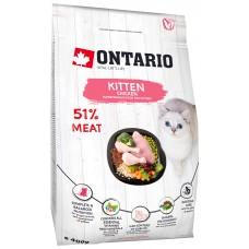 Ontario KITTEN для котят с курицей и индейкой