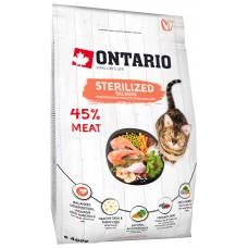 Ontario STERILISED для стерилизованных кошек с лососем