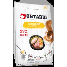 Ontario EXIGENT для особо требовательных кошек с курицей