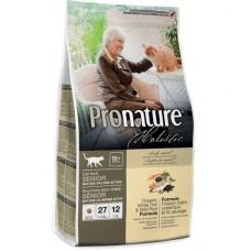 Pronature Holistic Senior корм для пожилых или малоактивных кошек океаническая белая рыба с рисом, облегченный 27/12 2.72кг (P41740)
