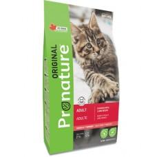 Pronature Original Cat Adult  сухой корм для кошек формула с курицей и ягненком  27/12