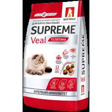 Зоогурман SUPREME сухой корм для взрослых кошекс телятиной
