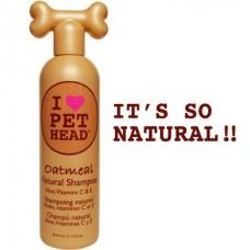 """Pet Head Шампунь """"100% натуральный"""" для собак с маслом овсянки, жожоба, без сульфатов и парабенов (Oatmeal)"""