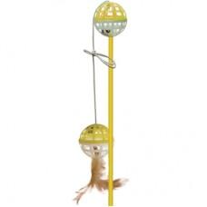 ЗооникУдочка с мячом-забавой и пером (P16550)