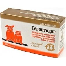 Геронтодог минерально-витаминный комплекс для стареющих собак и кошек, 100таб. (12513)