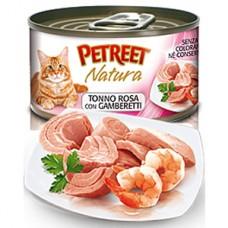 Петрит консервы для кошек Кусочки розового тунца с креветками 70гр. (53062)