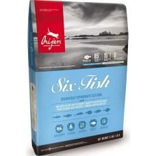 ORIJEN Six Fish 85/15 корм беззерновой для взрослых собак и щенков