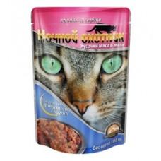 Ночной охотник консервы для кошек кролик сердце в желе, 100 гр. (51689)