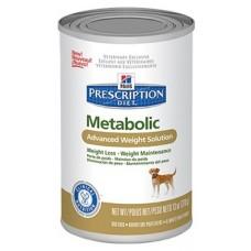Hill's Prescription Diet METABOLIC консервы для собак для коррекции веса, 370г (C37550)