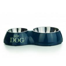 Beeztees Best Dog Миска 2 в 1 для собак двойная зеленая 160 мл+350 мл  31*17,5 см (650390)