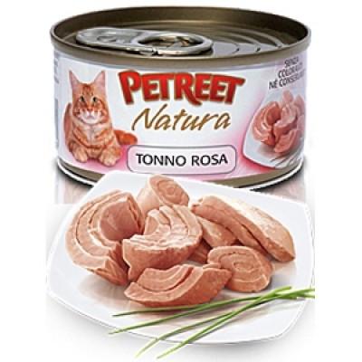 Петрит консервы для кошек Кусочки розового тунца 70гр. (53060)