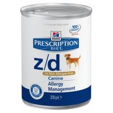 Hill's Prescription Diet Z/D Диета консервы для собак, Лечениe пищевых аллергий, 370гр. (C19470)